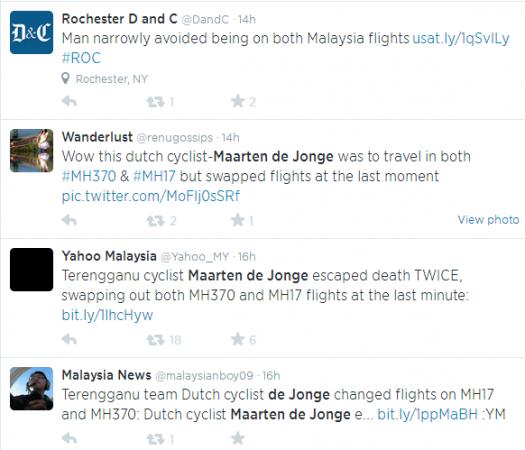 Tweets on De Jong's unfortunate fate