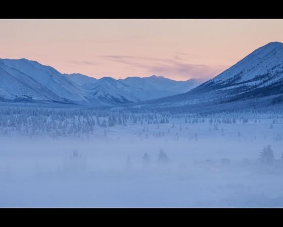 Sunset in Oymyakon