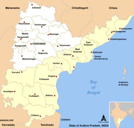 Telangana Seemandra Map