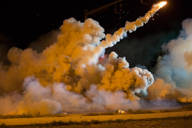 Ferguson Police fire tear gases on protesters