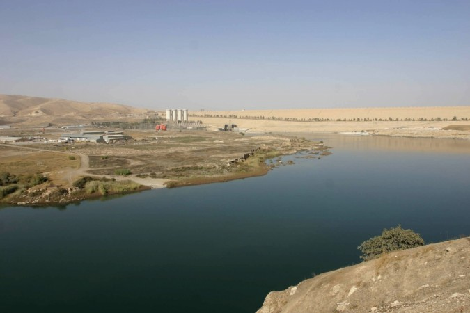 A view of the Mosul Dam on the Tigris River in Mosul, 390 km (240 miles) northwest of Baghdad.