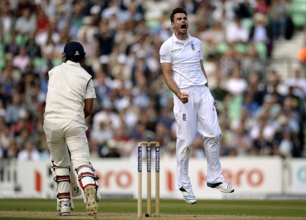 James Anderson England Cheteshwar Pujara India