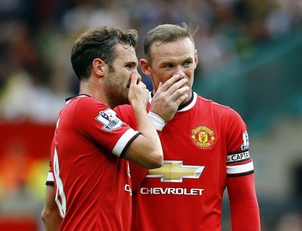Manchester United Wayne Rooney Juan Mata