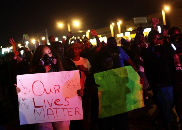 St Louis is located just eight miles from Ferguson, where Michael Brown - another black teen - was shot down by a white police officer two months ago.