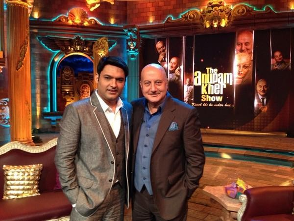 Kapil Sharma, Anupam Kher on 'The Anupam Kher Show'