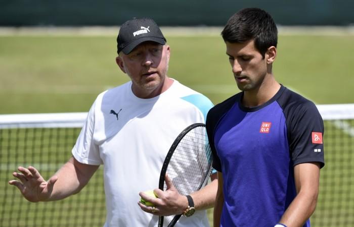 Boris Becker and Novak Djokovic
