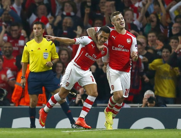 Alexis Sanchez Jack Wilshere Arsenal