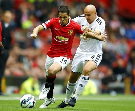 Javier Hernandez Manchester United Jonjo Shelvey Swansea City
