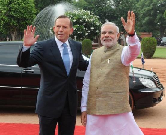 PM Modi with Australian PM Tony Abbott