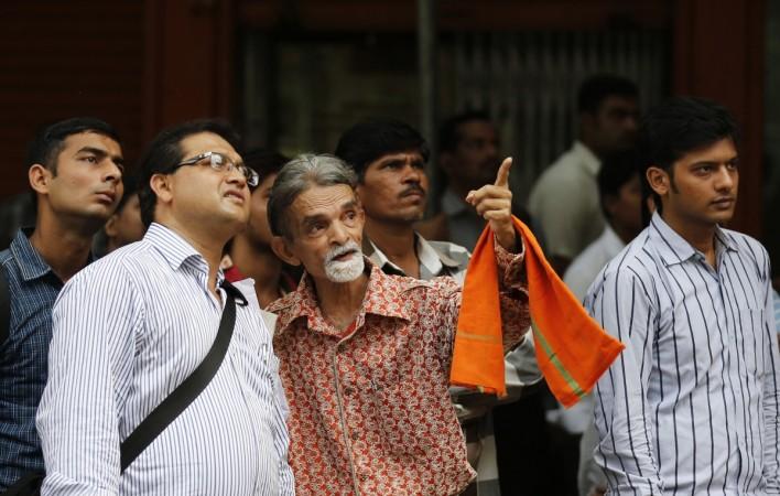 People outside BSE Mumbai