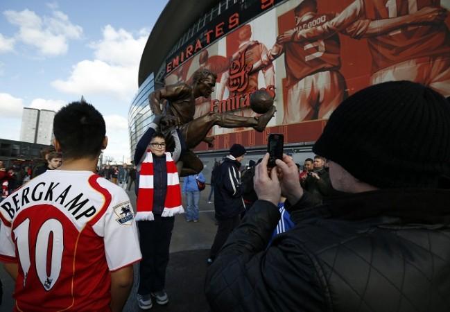 Arsenal Emirates Stadium Dennis Bergkamp statue