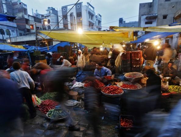 Indian vegetable market