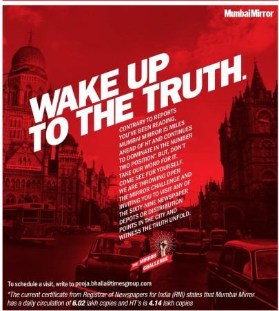 Mumbai Mirror ad