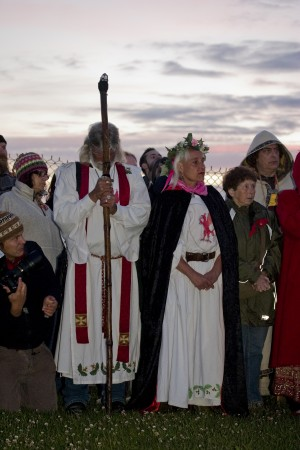 Arthur Uther Pendragon attending 2010 Summer Solstice ceremony at Stonehenge