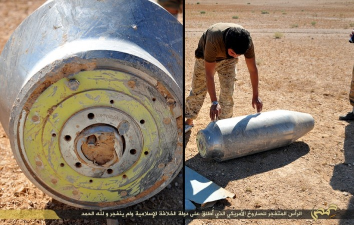 An unexploded Tomahawk missile found by ISIS in Homs.