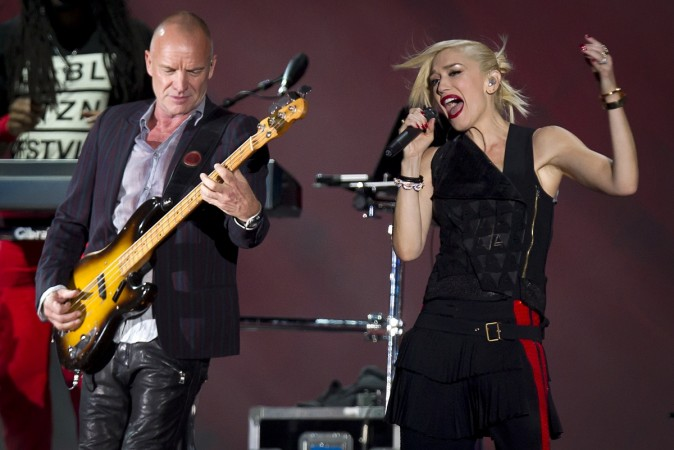 Sting and Gwen Stefani perform at the Global Citizen Festival