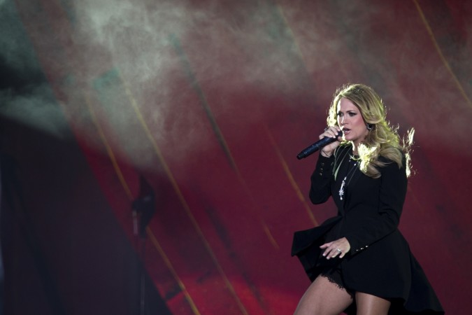 Carrie Underwood performs at the Global Citizen Festival
