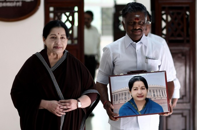 J Jayalalithaa and O Panneerselvam at Tamil Nadu.