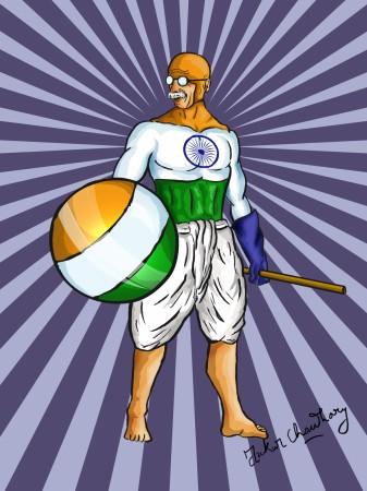 Captain Mahatma Gandhi