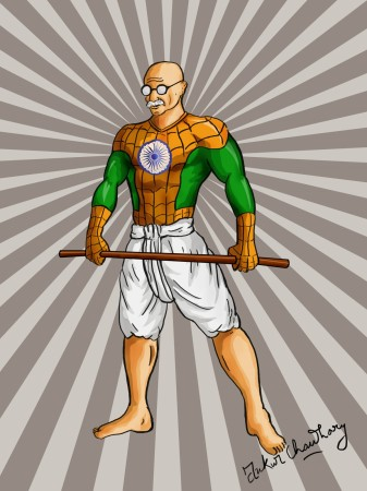 Spiderman Gandhi