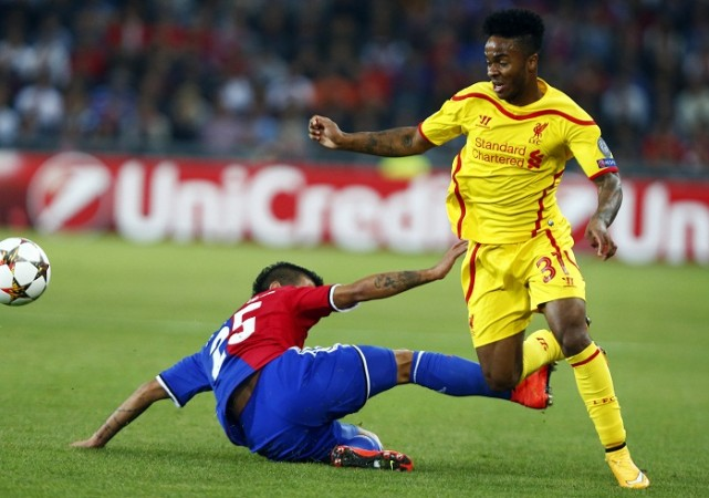 Raheem Sterling Liverpool Derlis Gonzalez FC Basel