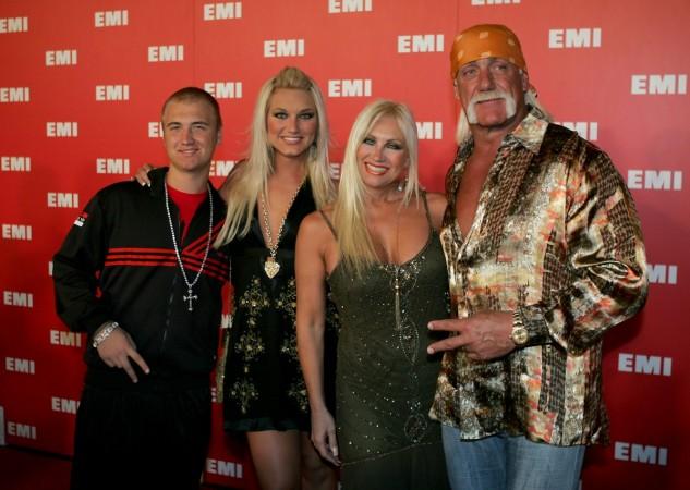 Hulk Hogan with his family