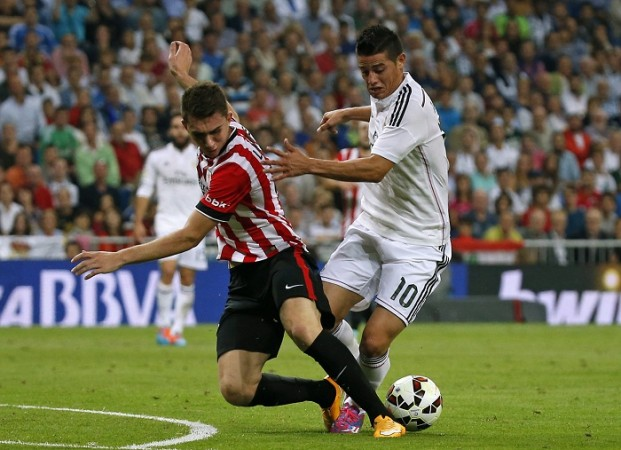 Aymeric Laporte Athletic Bilbao James Rodriguez Real Madrid