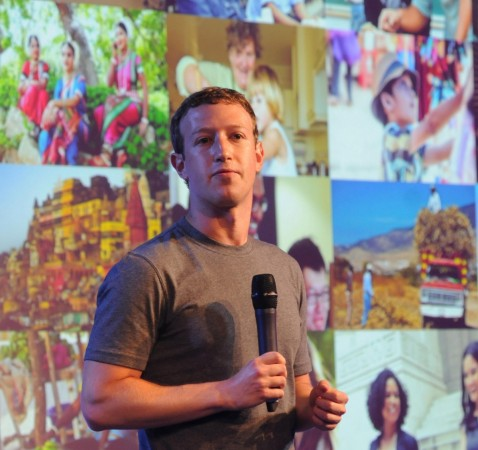 Mark Zuckerberg in New Delhi, India