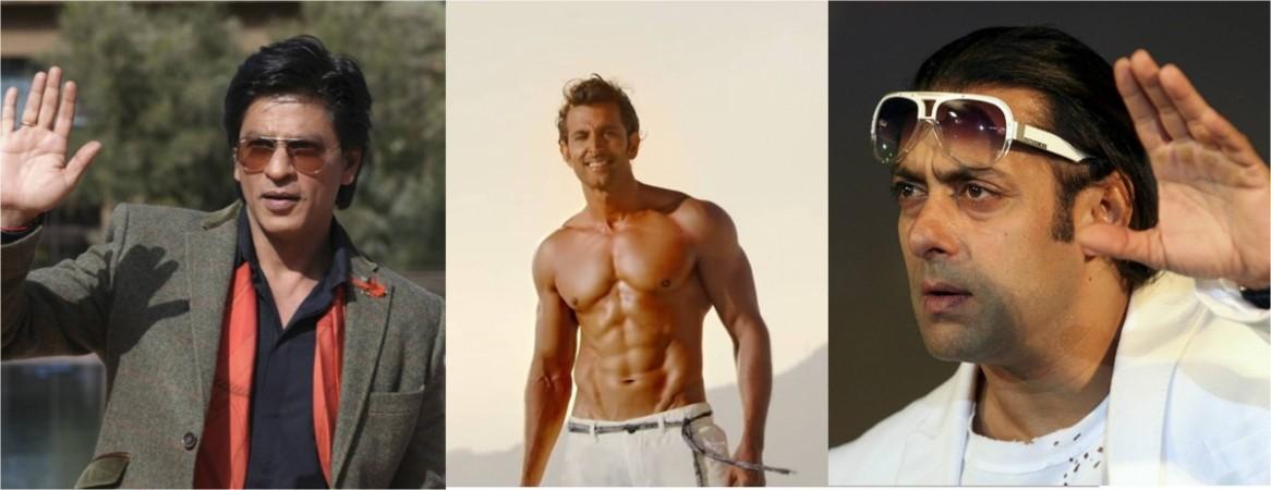 Shah Rukh Khan, Hrithik Roshan, Salman Khan