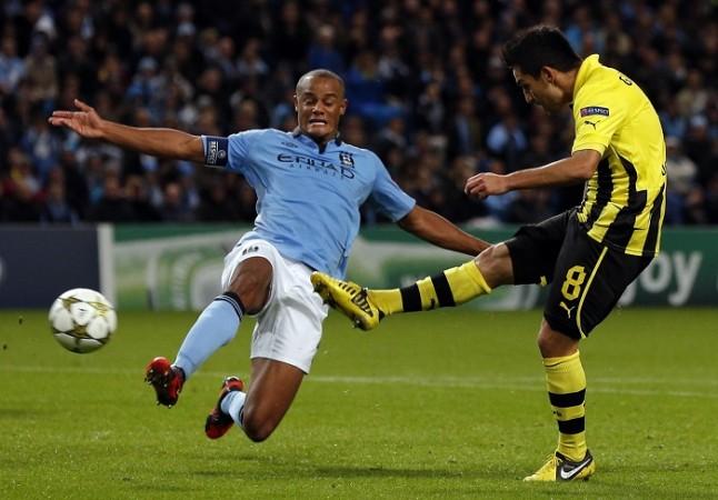 Vincent Kompany Manchester City Ilkay Gundogan Borussia Dortmund