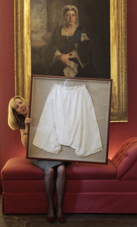 Queen Victoria's silk bloomers sold at auction for £6,200.