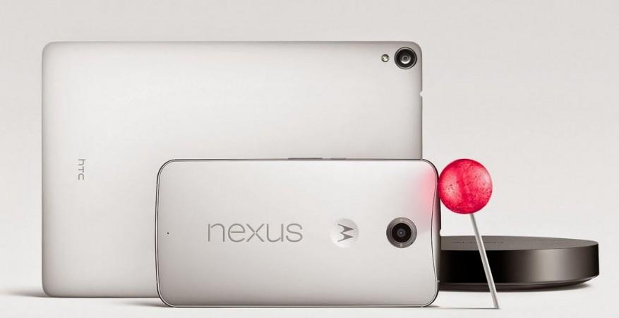 Google Nexus 6, Nexus 9 with Android 5.0 Lollipop OS