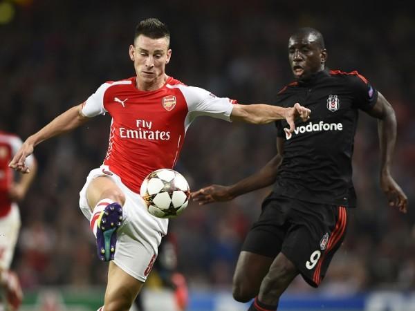 Laurent Koscielny Arsenal Demba Ba Besiktas