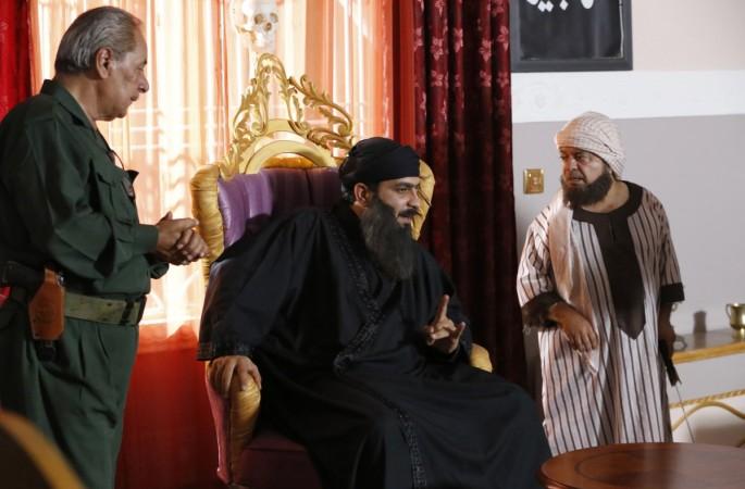 Actors on the set of the Iraqi sitcom