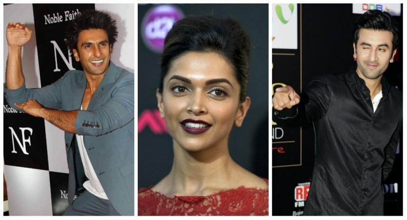 Ranveer Singh, Deepika Padukone, Ranbir Kapoor
