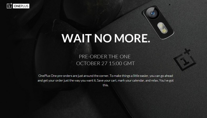 OnePlus One Pre-Order page