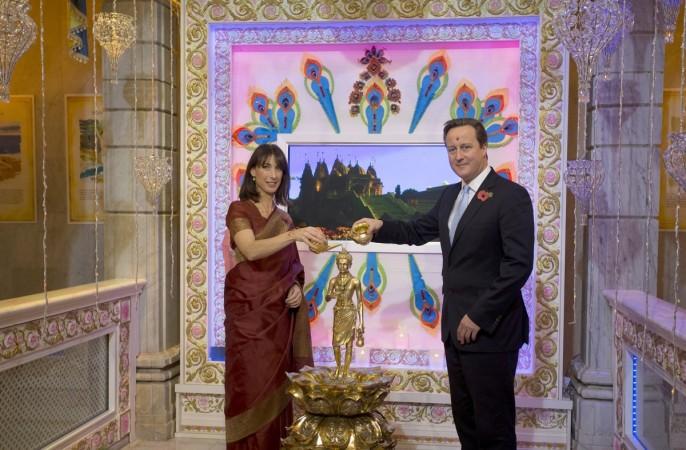 David Cameron celebrates Diwali with wife Samantha Cameron