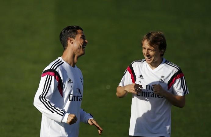 Cristiano Ronaldo Real Madrid Luka Modric