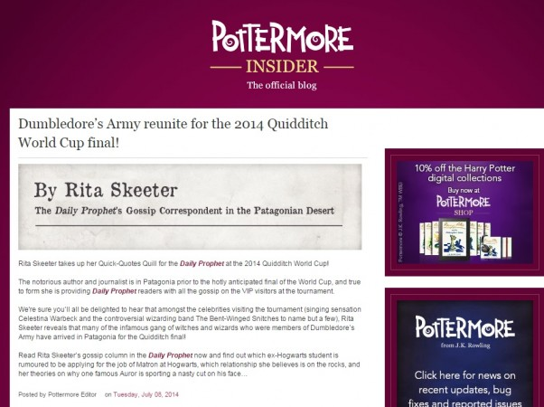 Dumbledore's army reunites for Quidditch World Cup Final