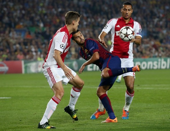 Pedro Rodriguez Barcelona Ajax Niklas Moisander Ricardo van Rhijn