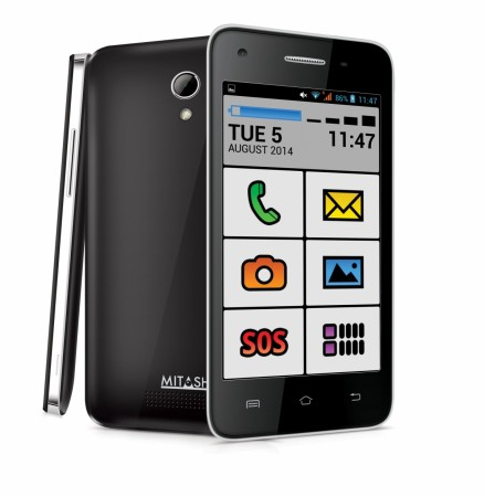 Mitashi Play Senior, android smartphone for senior citizens