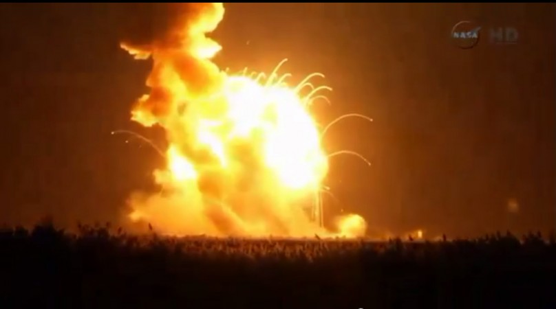 NASA rocket, Antares, bound for the International Space Station has exploded during its launch.