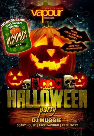 Halloween party at Vapour pub