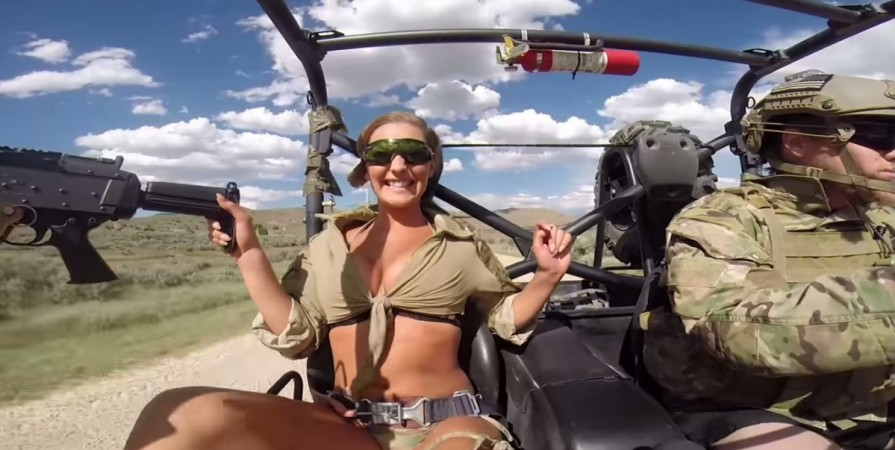 soldiers land in trouble for lending tank weapons for bikini video shoot