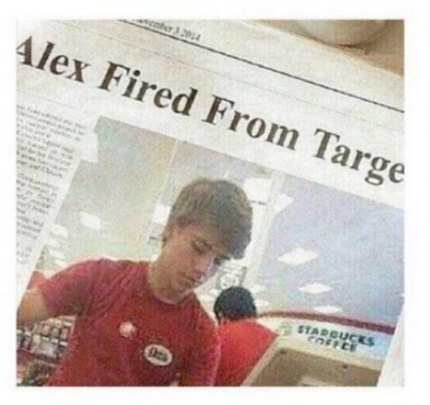 The story that 'Alex From Target is fired' from his job is a hoax. The internet superstar still has his job.