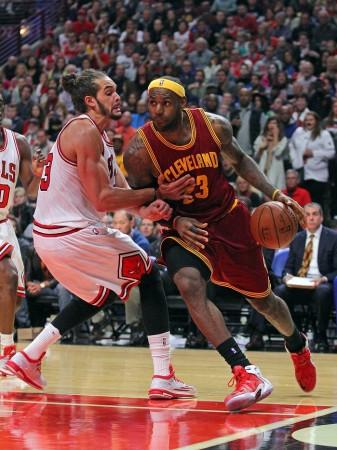 Joakim Noah Chicago Bulls LeBron James Cleveland Cavaliers