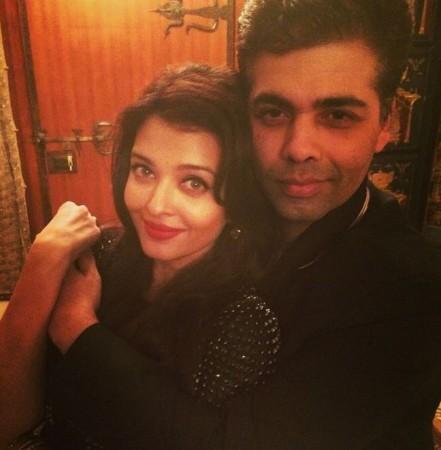 Karan Johar and Aishwarya Rai Bachchan