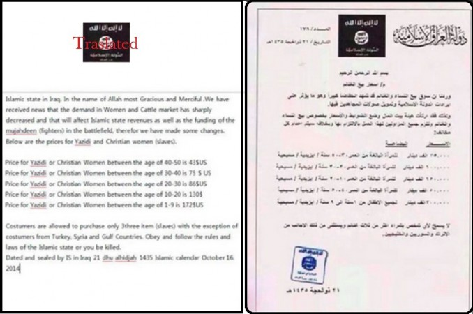 An Official ISIS price list has been released by the group in Iraq as price control measure.
