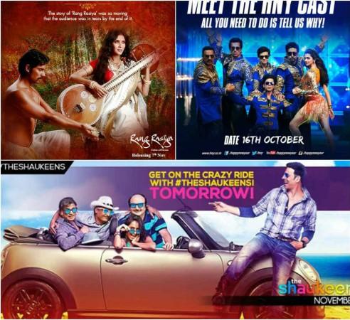 Will 'The Shaukeens' and 'Rang Rasiya' Halt 'Happy New Year' Collection?