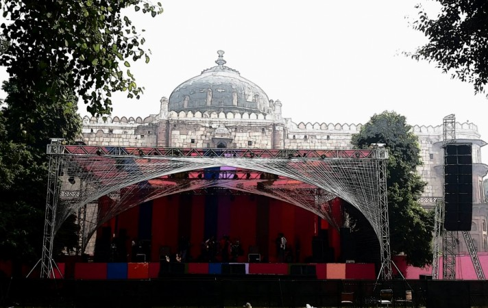 Sound check at Puran Quila, Delhi for the South Asian Bands Festival